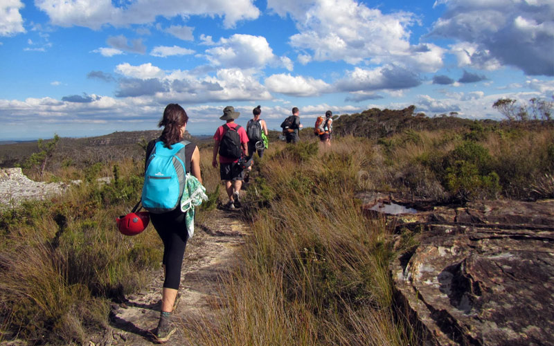 bushwalking walk with walking grades