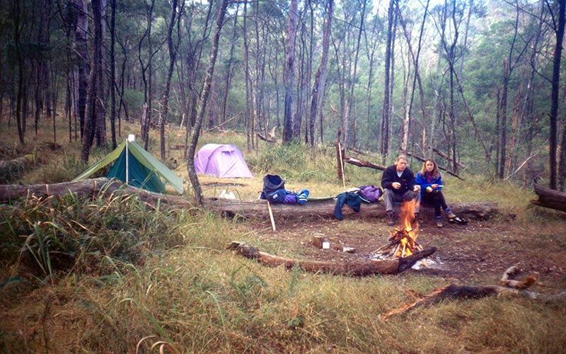 Bushwalkers bush camping