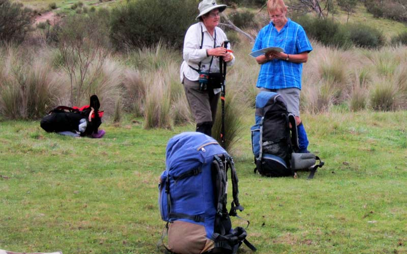 Bushwalkers pack clothes for a comfortable safe bushwalk