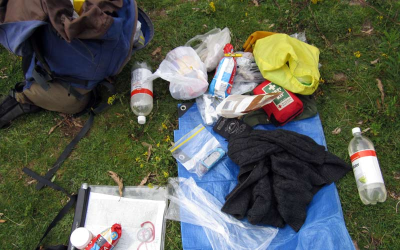 Packing a backpack for a safe comfortable bush walk