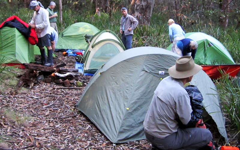 A good tent and warm sleeping bag is essential for a comfortable night in the bush