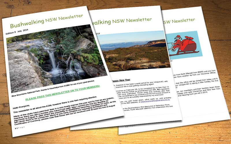 Bushwalking NSW Newsletter archive