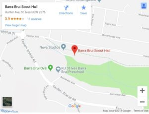 Bara Brui Scout Hall map